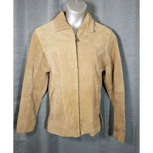Wilsons Leather Small Tan Suede Leather Jacket